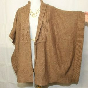 Talbots Open Front Wool Poncho Shawl One Size J146